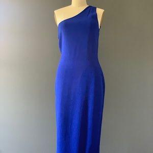 DVF One Shoulder Cobalt Dress